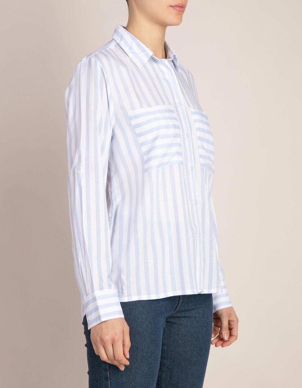 Camisa de riscas estamapadas com bolsos