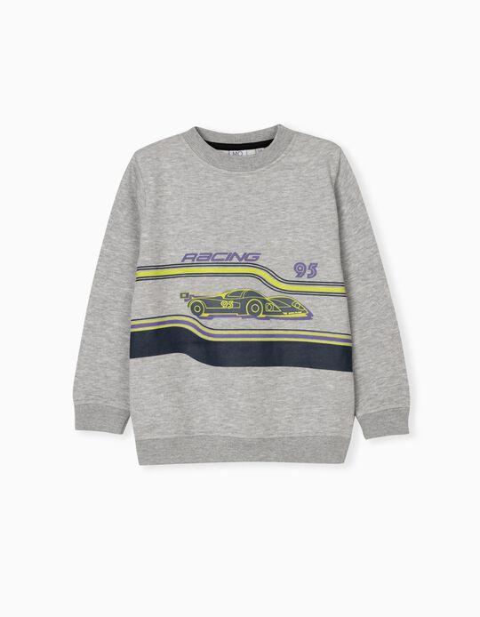 Carded Sweatshirt for Children, Grey