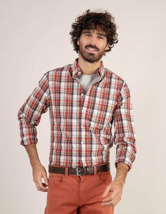 Camisa regular fit aos quadrados