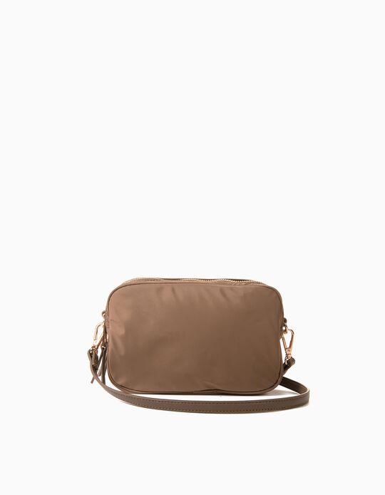Nylon Crossbody Bag for Women, Beige