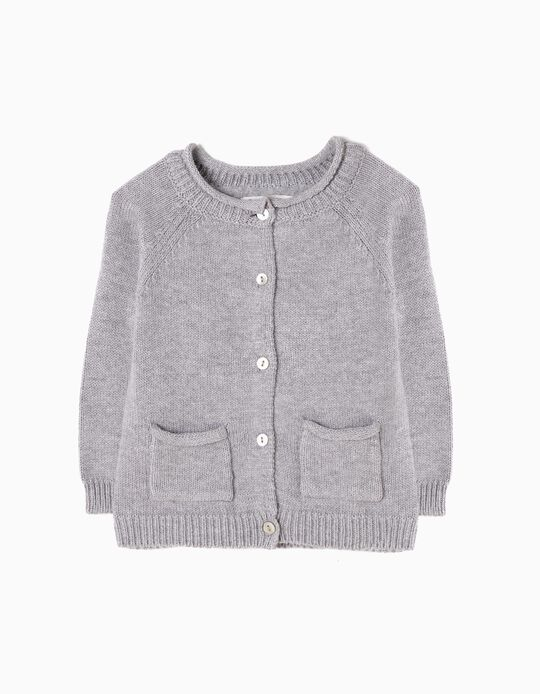 Cardigan for Newborn Girls, Grey