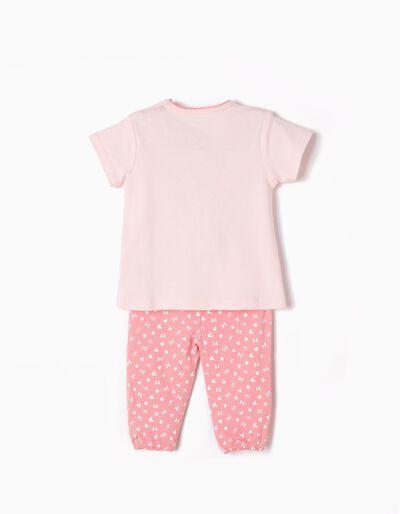 Pijama Manga Curta e Calças Minnie Too Cute