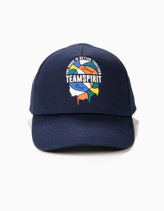 Boné para Menino 'Team Spirit', Azul Escuro