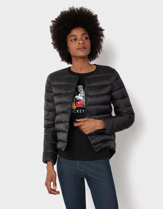 Padded Black Jacket for Women