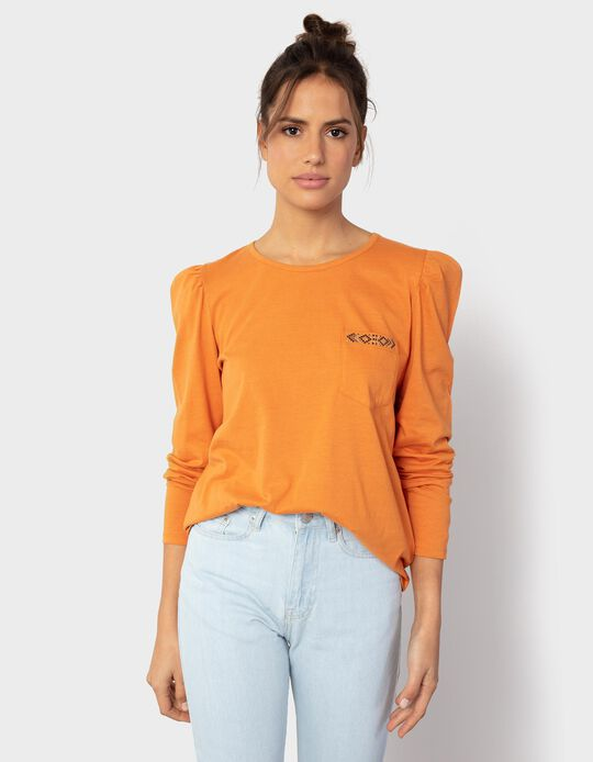 Long Sleeve Top with Pocket, for Women