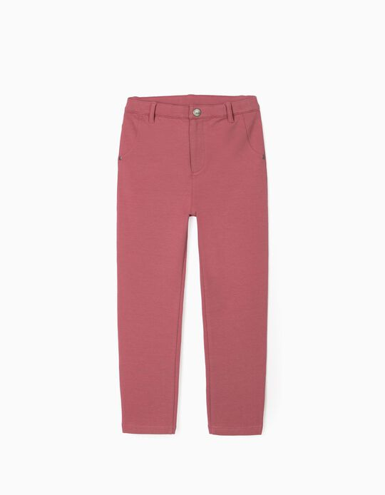 Carded Trousers for Girls, Pink