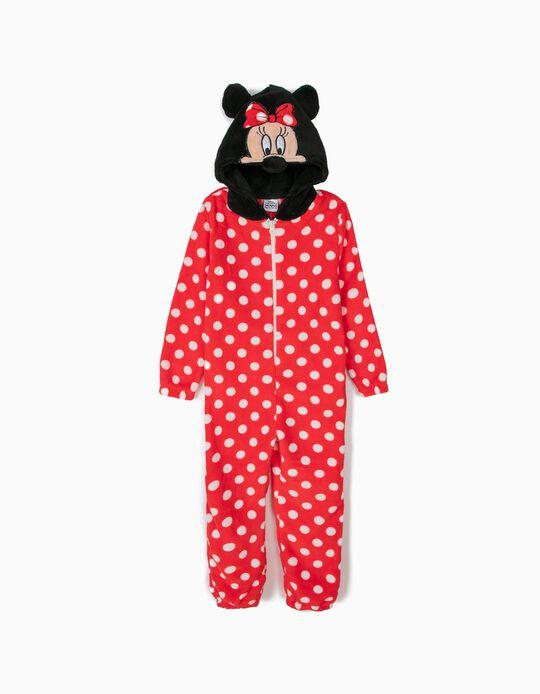 Pijama-Macacão com Capuz Minnnie