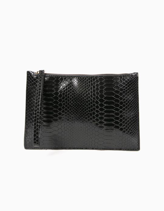 Snakeskin-effect Toiletry Bag