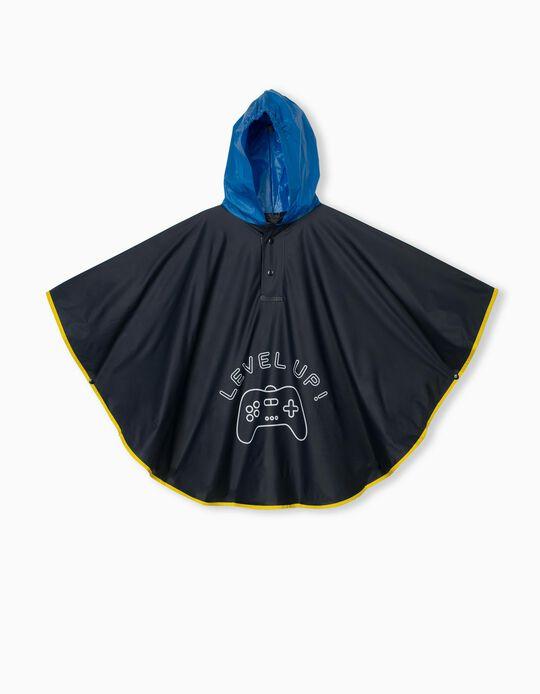 Hooded Raincover for Children, Dark Blue