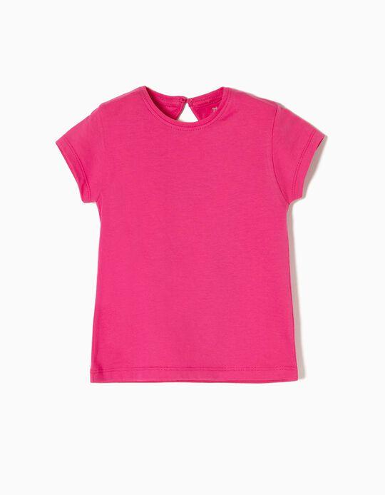 T-shirt Algodão Pink