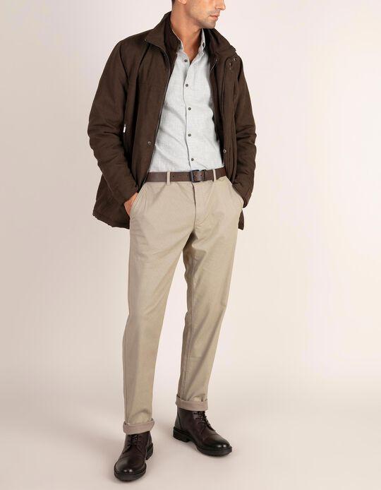 Calças slim fit com padrão