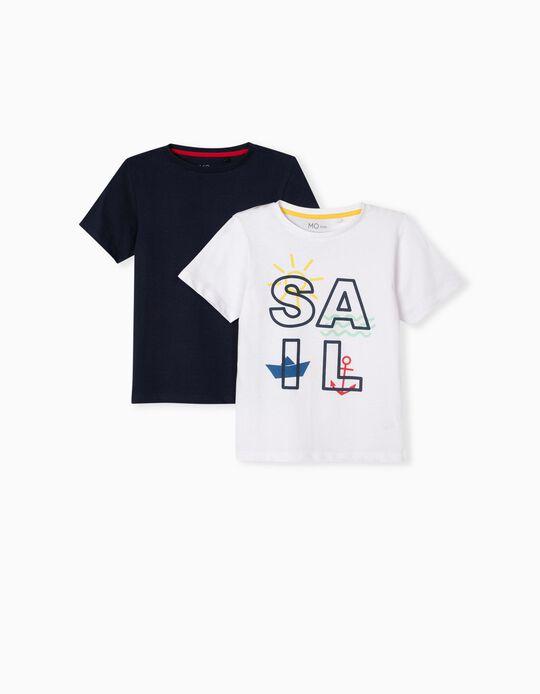 2 T-shirts de Algodão para Menino