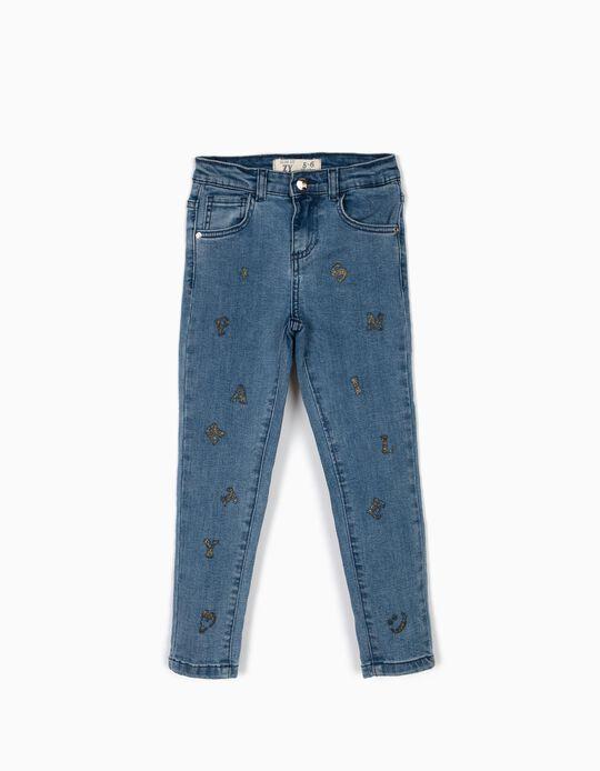 Jeans, Sparkling Letters