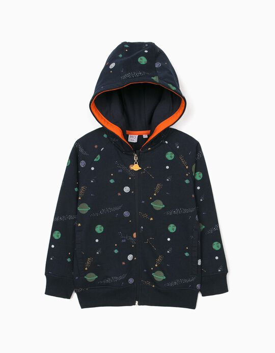 Carded jacket with hood