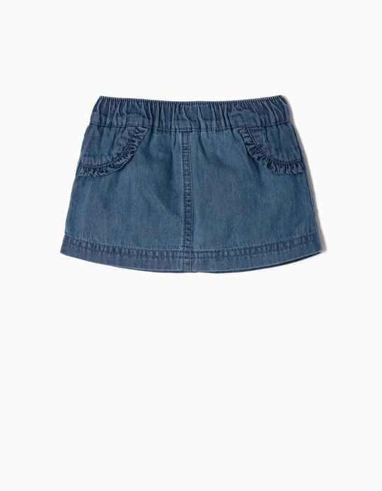 Denim Skirt with Nappy Cover Briefs