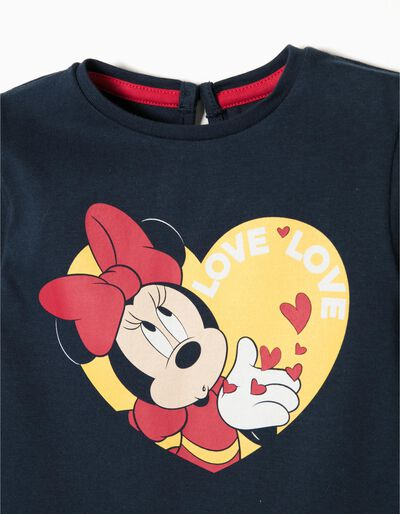 T-Shirt Manga Comprida Love Minnie