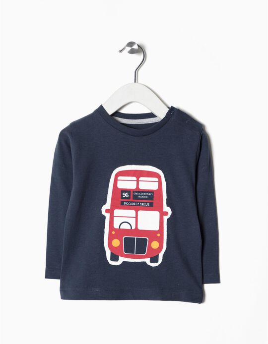 T-shirt manga comprida london Bus