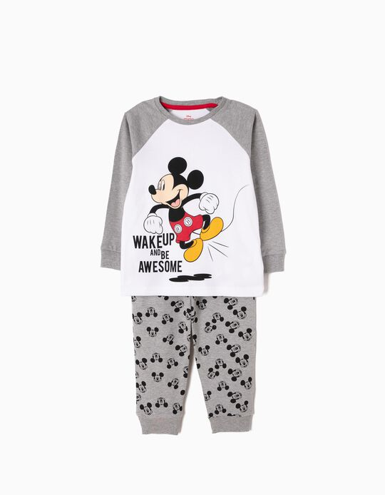 Pijama Manga Comprida e Calças Mickey Wake Up