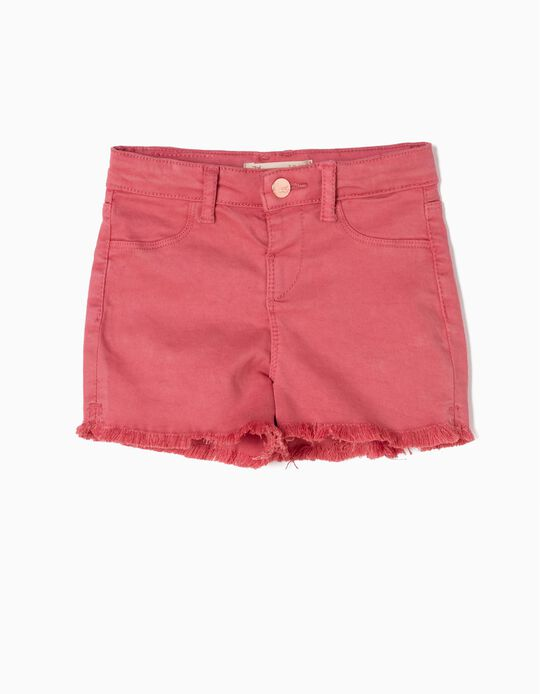 Pink Frayed Shorts