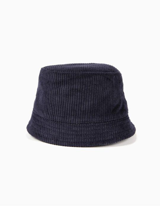 Chapéu de Bombazine Azul Escuro