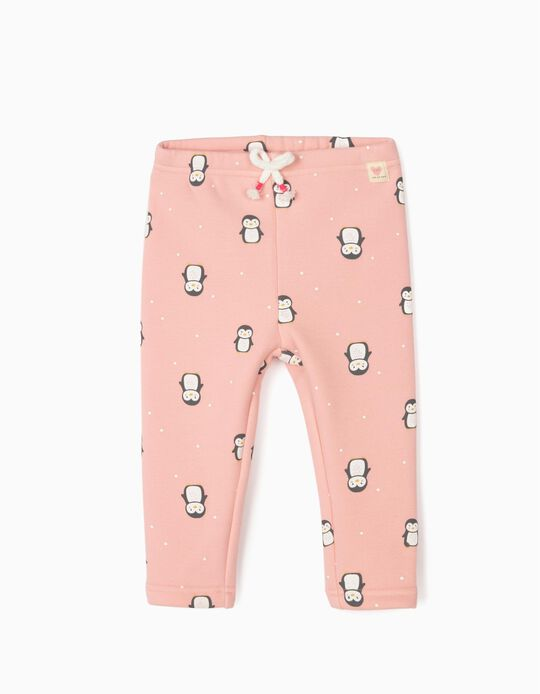 Trousers for Baby Girls 'Penguins', Pink