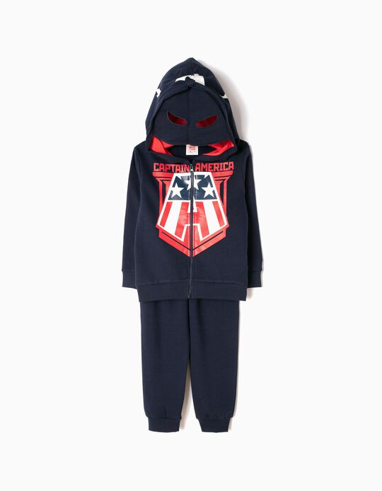 Tracksuit with Mask-Style Hood, Captain America