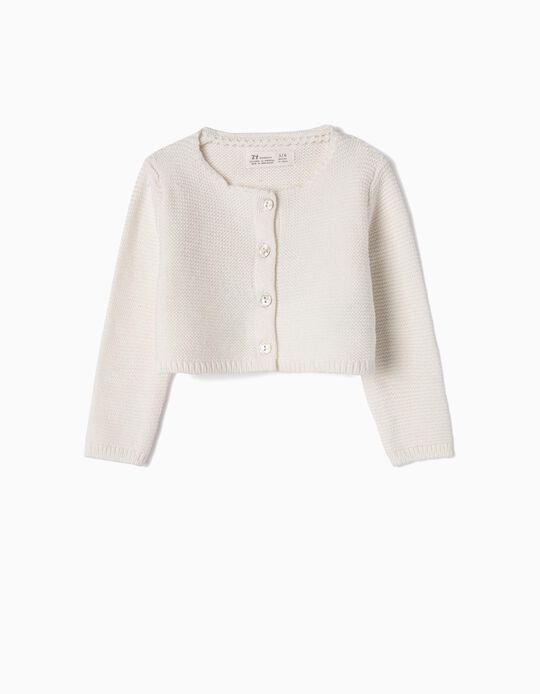 Bolero Jacket for Newborn Girls, White