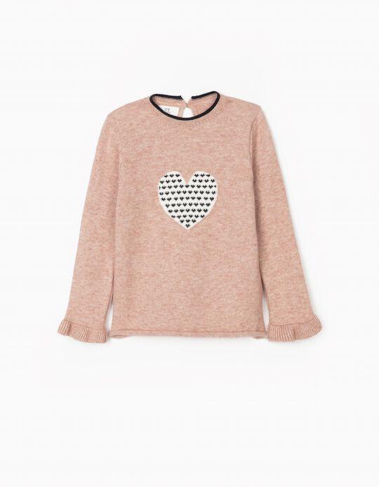 Jumper for Girls 'Hearts', Pink