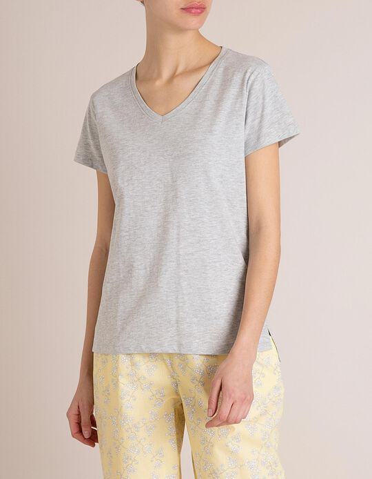 T-Shirt Pijama Cinza