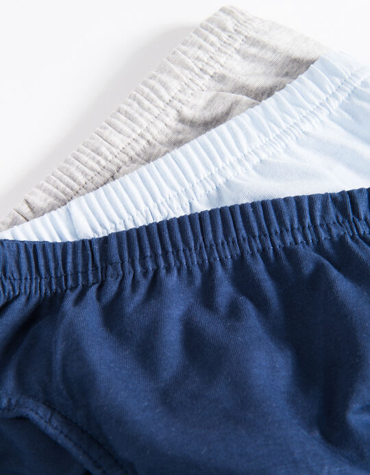 3-Pack Briefs for Boys, Multicolour