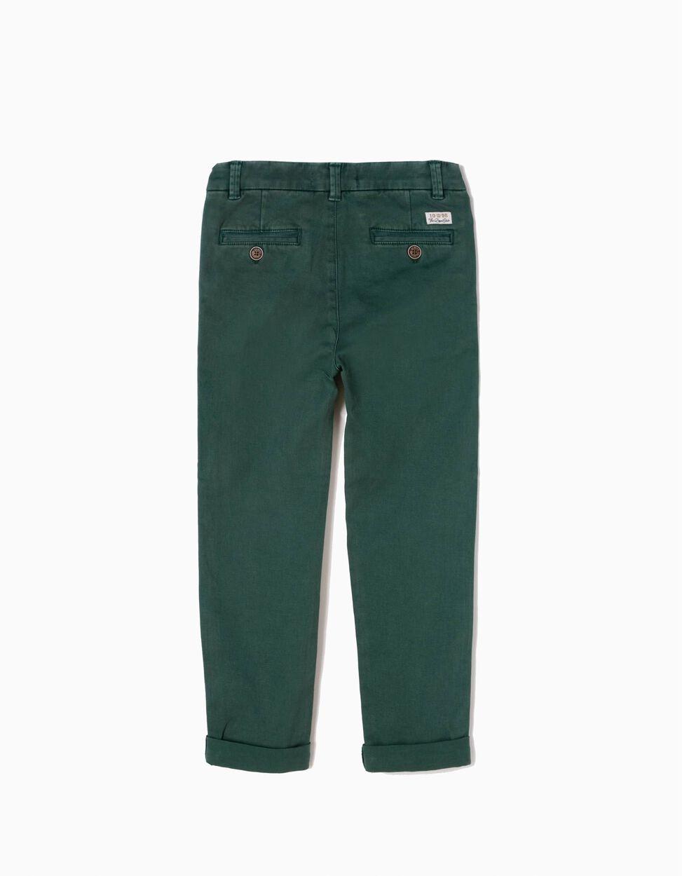 Calças Chino Verde