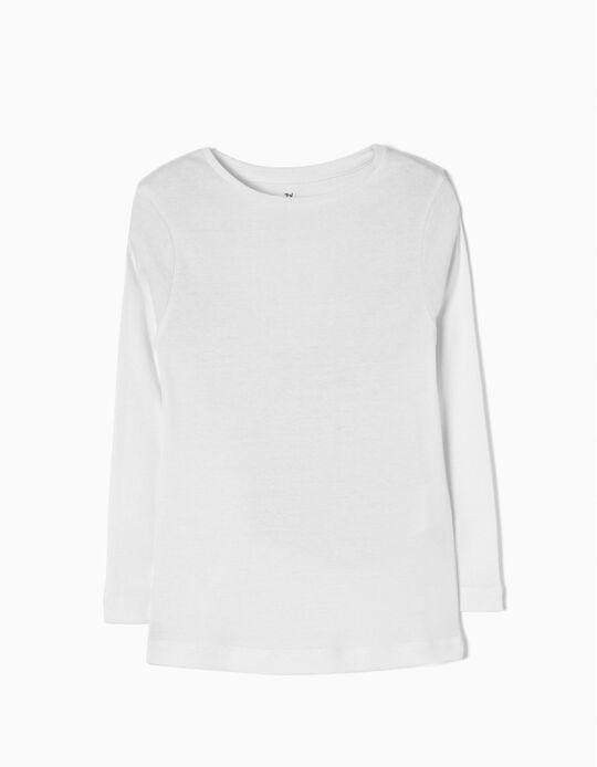 T-shirt Manga Comprida Branca