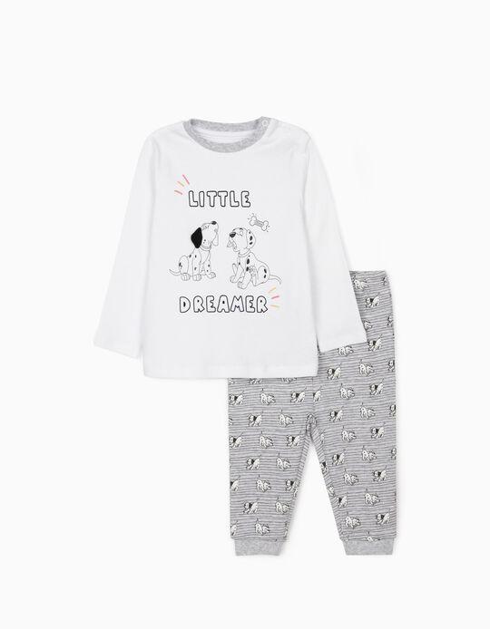 Pijama para Bebé Menino '101 Dalmatians', Branco/Cinza