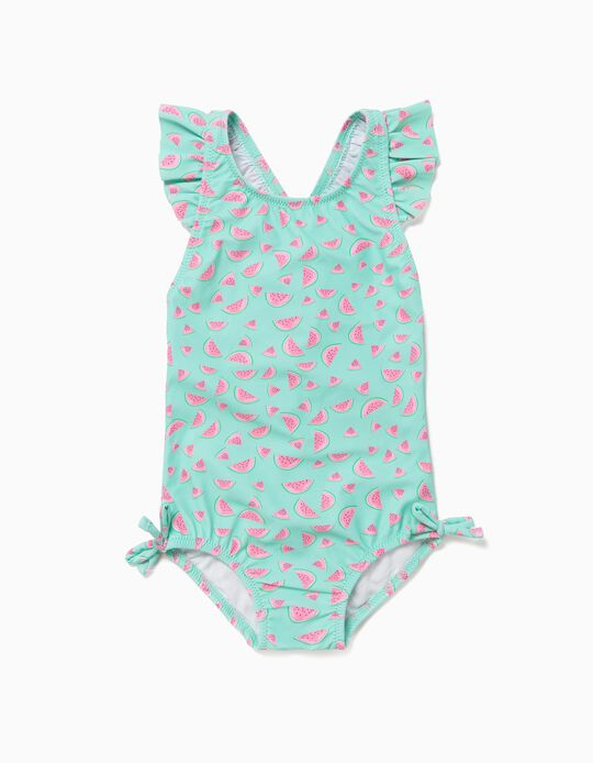 Swimsuit for Baby Girls, 'Watermelons', Green
