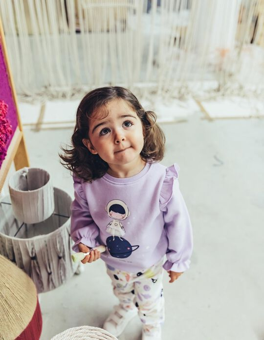 Sweatshirt para Bebé Menina 'Be Brave', Lilás