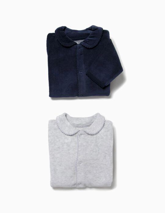 Pack 2 Babygrow Veludo