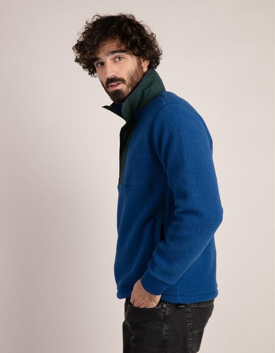 Sweatshirt em pêlo sintético