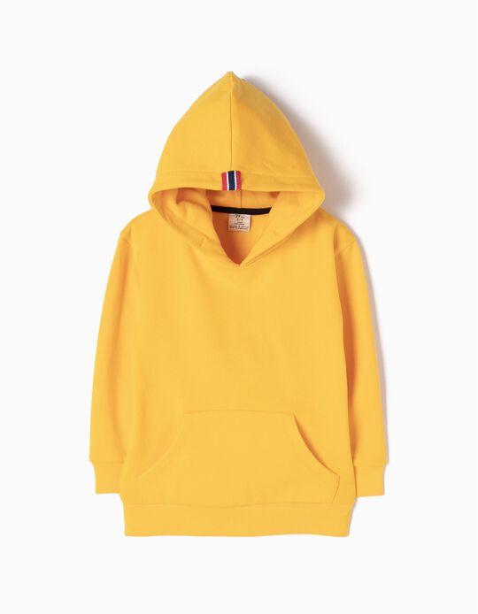 Sweatshirt com Capuz Amarela