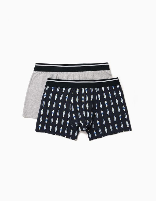 2 Assorted Boxer Shorts, for Men