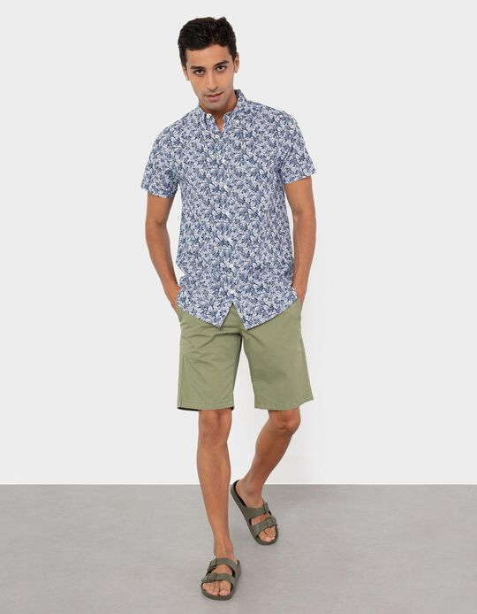 Twill Shorts for Men, Green