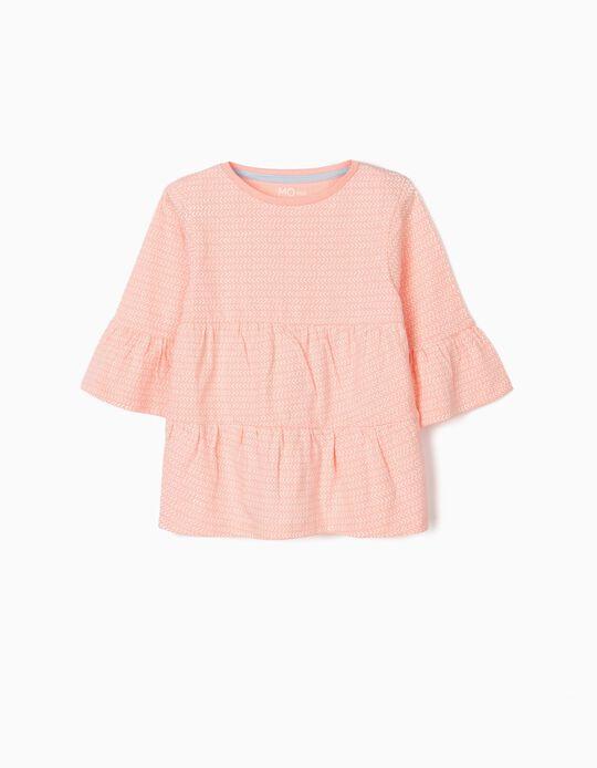 T-shirt Efeito de Folho para Bebé Menina