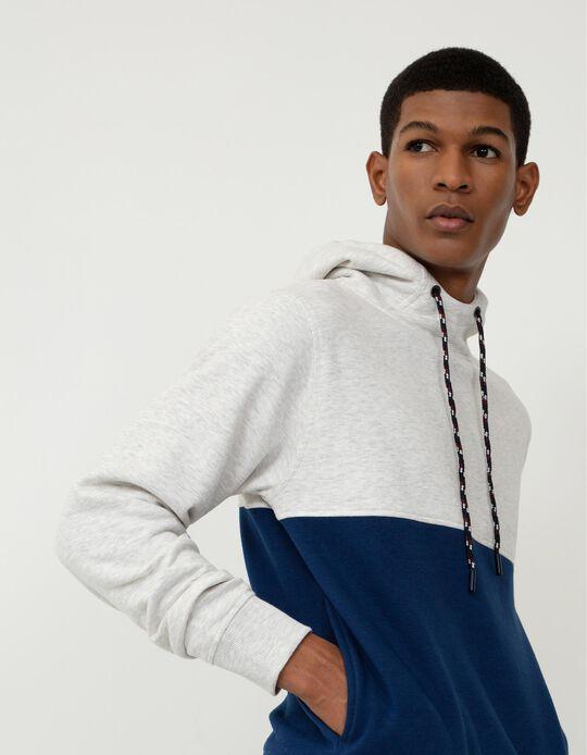 Sweatshirt com Capuz, Homem, Cinza