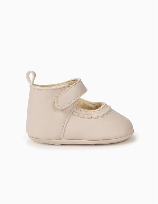 Shoes for Newborn Girls, Pearl White