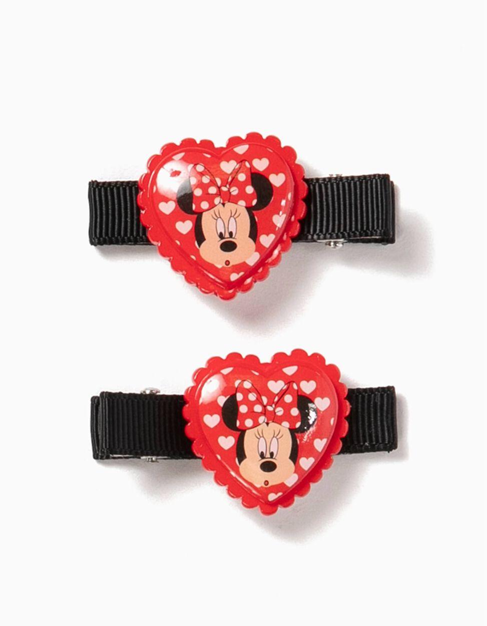 Pack 2 Ganchos para Cabelo Corações Minnie