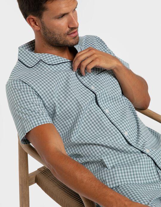 Pijama camiseiro xadrez