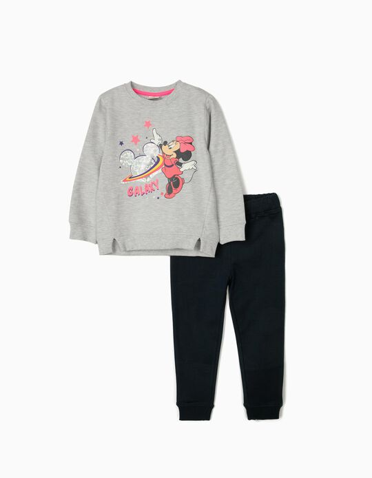 Tracksuit for Girls, 'Minnie Galaxy', Grey/Dark Blue