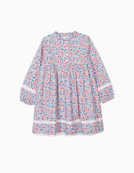 Floral Dress for Girls, Multicoloured