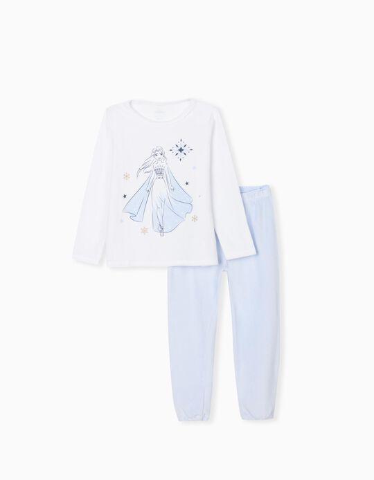Pijama do Frozen, Menina, Branco/ Azul