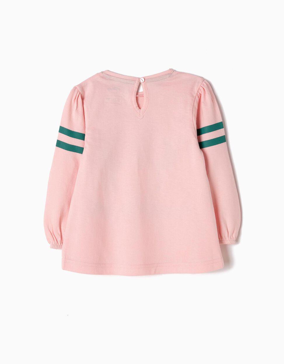T-shirt Manga Comprida Minnie Rosa