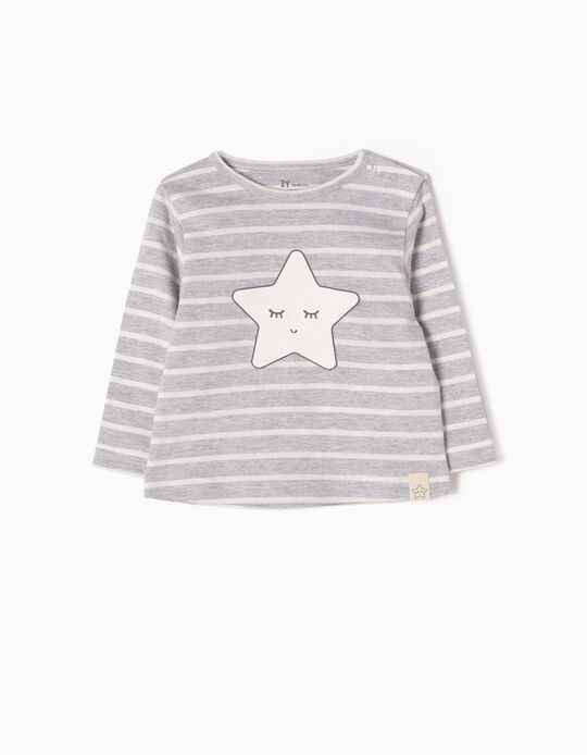 Long-Sleeved Top, Stripes & Star